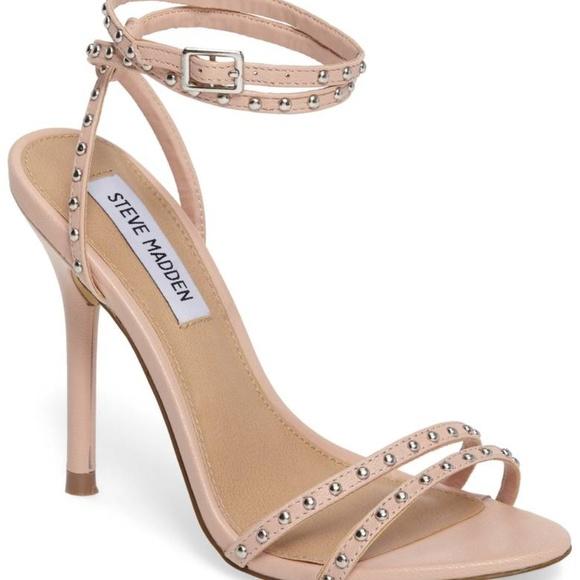 436ef06f207 Steve Madden Wish Womens Blush Pink Studded Heels